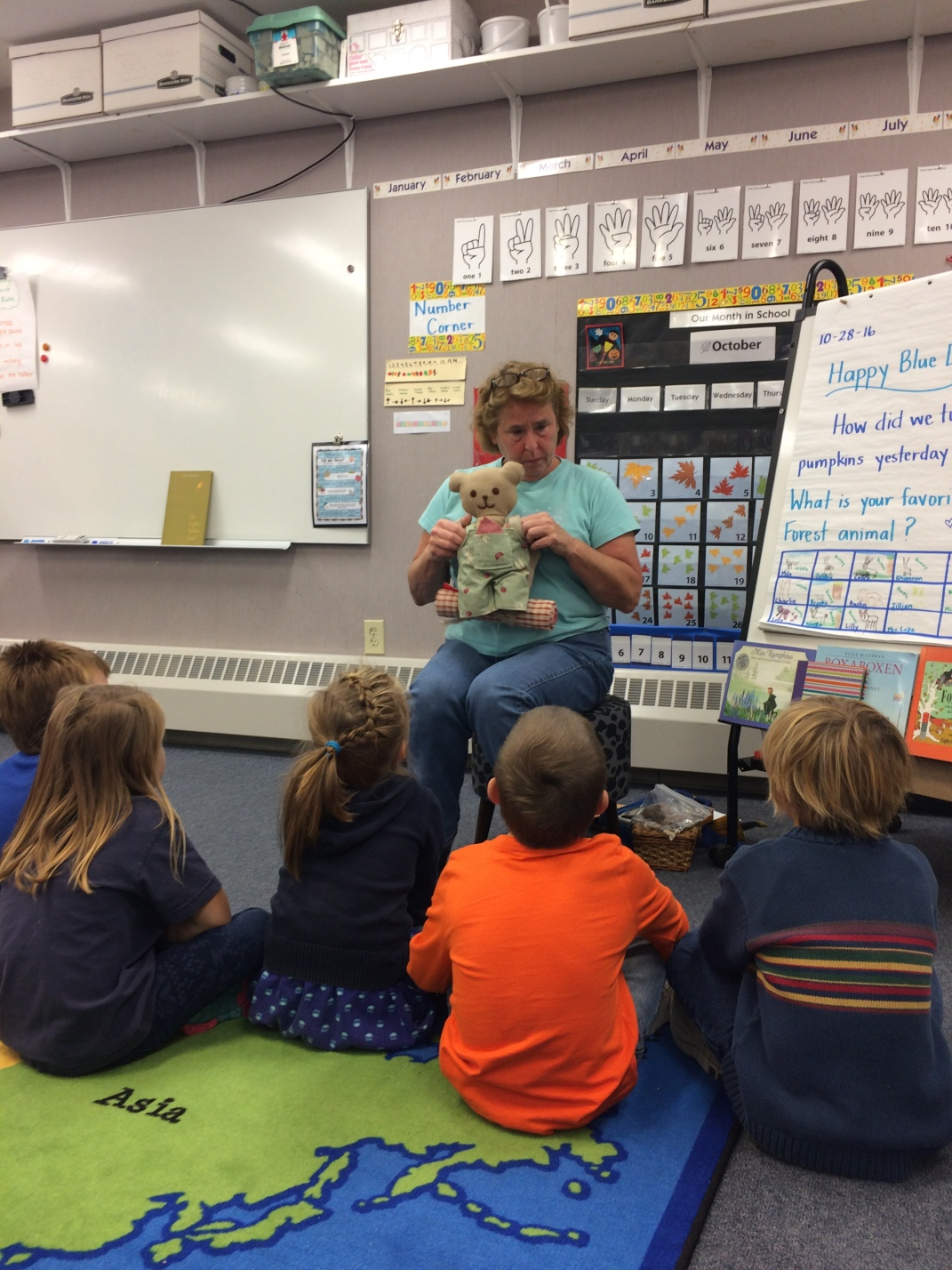 Miss Ogden shared about her life as the Fish Bag sharper today